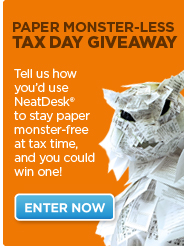 Neat_Desk_Paper_Monster-Less_giveaway