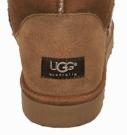 wearing actual Uggs or not. If they didn't have the signature brown