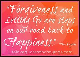 Forgiveness and letting go