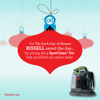 Bissell 12 Days of messes