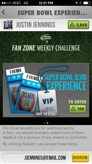 Bud Light Fan Zone App