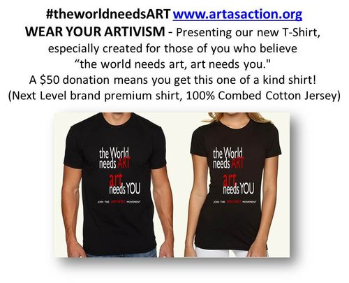The world needs art tshirts