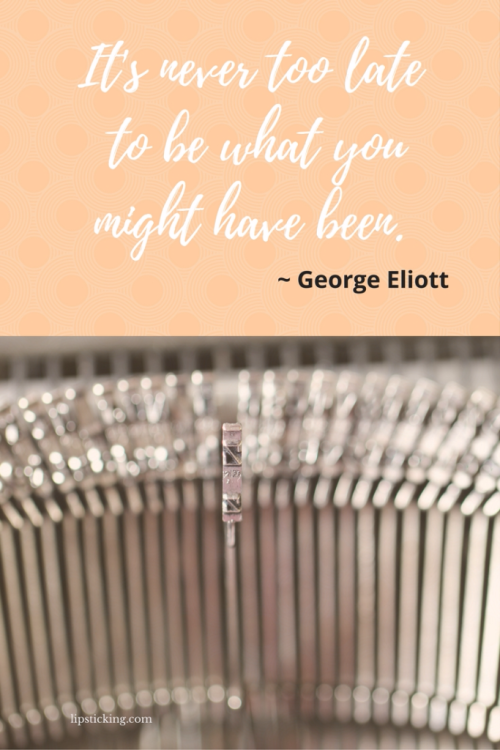 Never too late from George Eliot