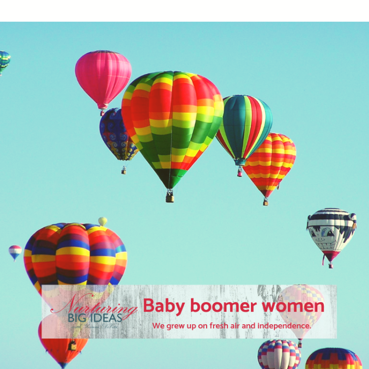 Baby boomer women with fresh air and independence