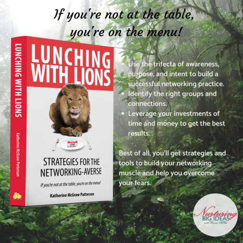 Not at the table on the menu book lunching with lions