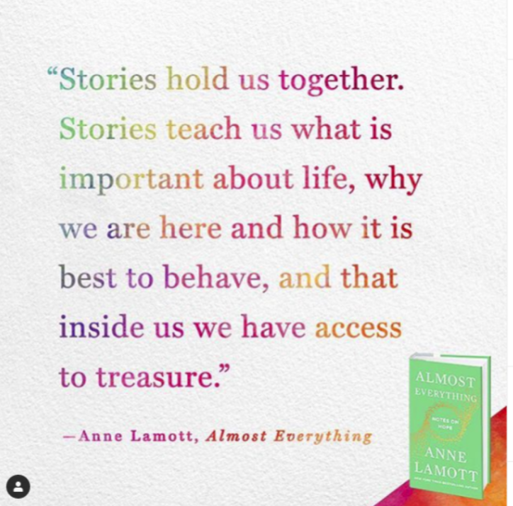 Anne lamott stories hold us together