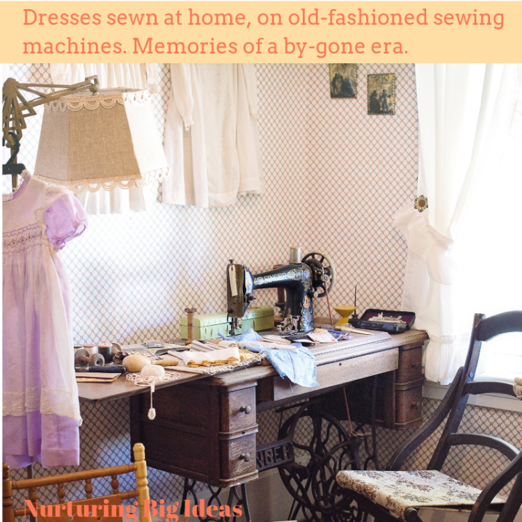 Old fashioned sewing machines