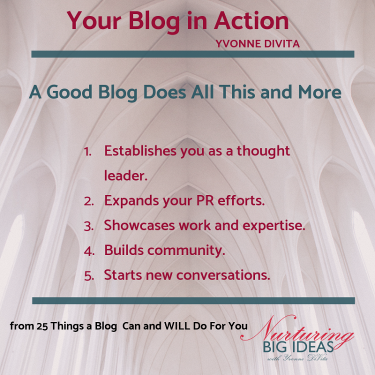 25 things a blog in action can do