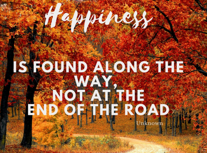Happiness along the way