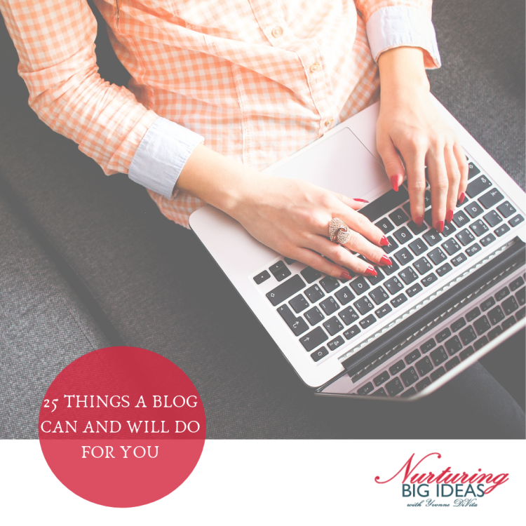 25 things a blog can and will do for you