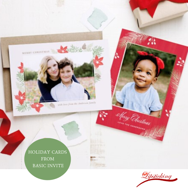 Holiday cards kids basic invite