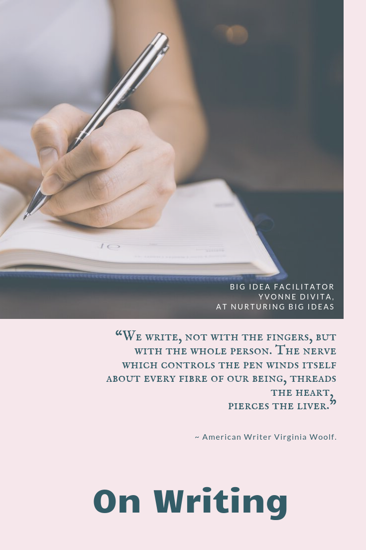 Virginia woolf nerve controls the pen on writing