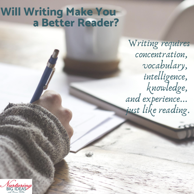 Act of writing makes a better reader
