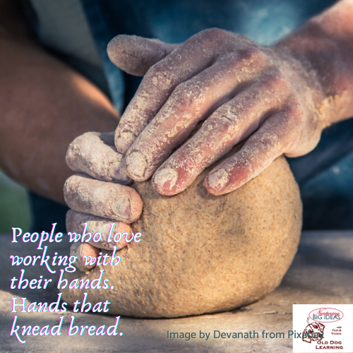 Hands that knead bread